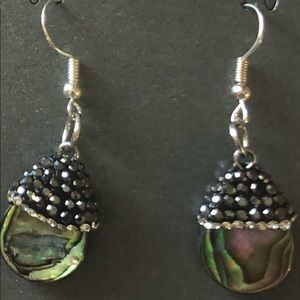 Abalone Beaded Drop Earrings